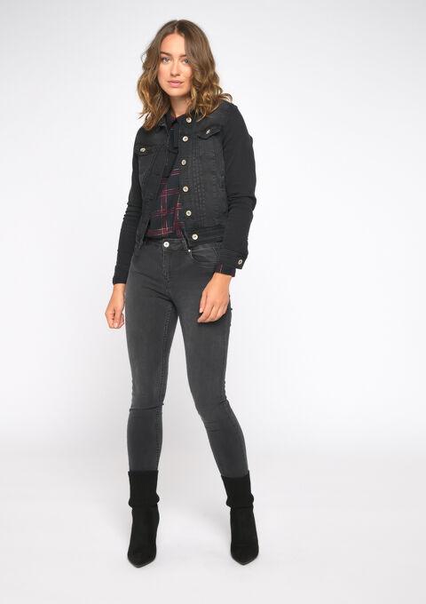 Korte jeansvest - BLACK - 09100235_1119