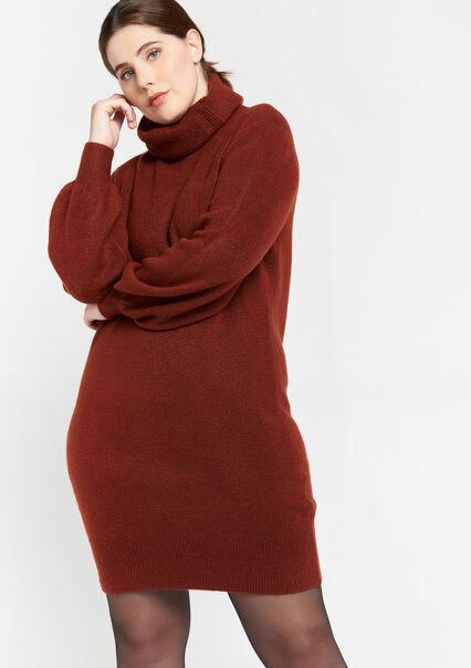 Mini trui-jurk met col - RUST - 08102221_3718