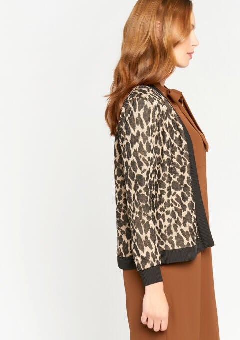 Jasje met luipaardprint - CAMEL ALMOND - 09100077_3807