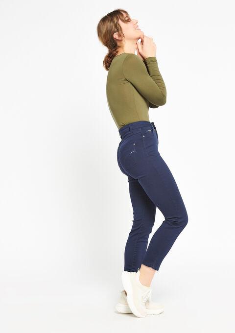 Slim broek met enkel-rits - BLACK IRIS - 918502
