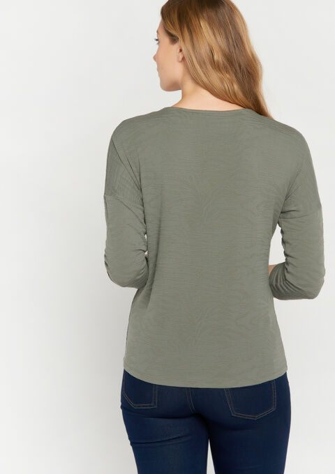 Sweater met dierenprint - KHAKI DARKY - 03001391_4208