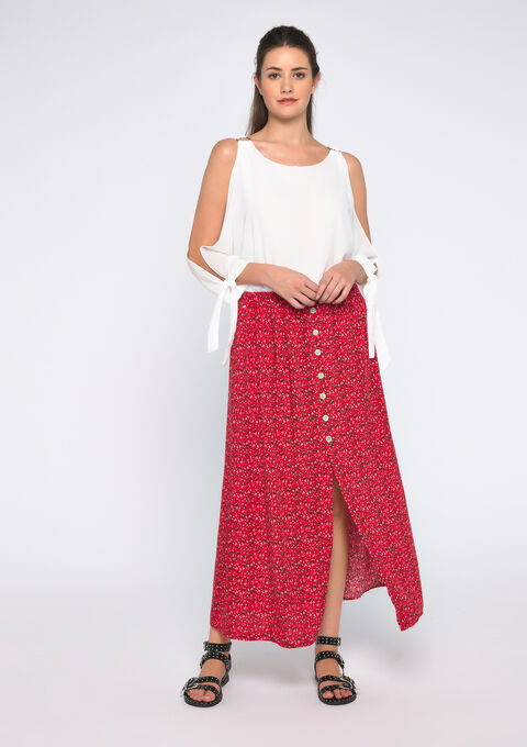 Liberty maxi skirt - FLAME RED - 07100274_1398