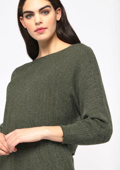 Lurex sweater - KHAKI ARMY - 04005121_4314