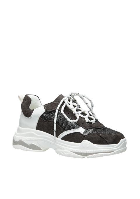 Trendy sneakers met dikke zool - BLACK - 13000373_1119