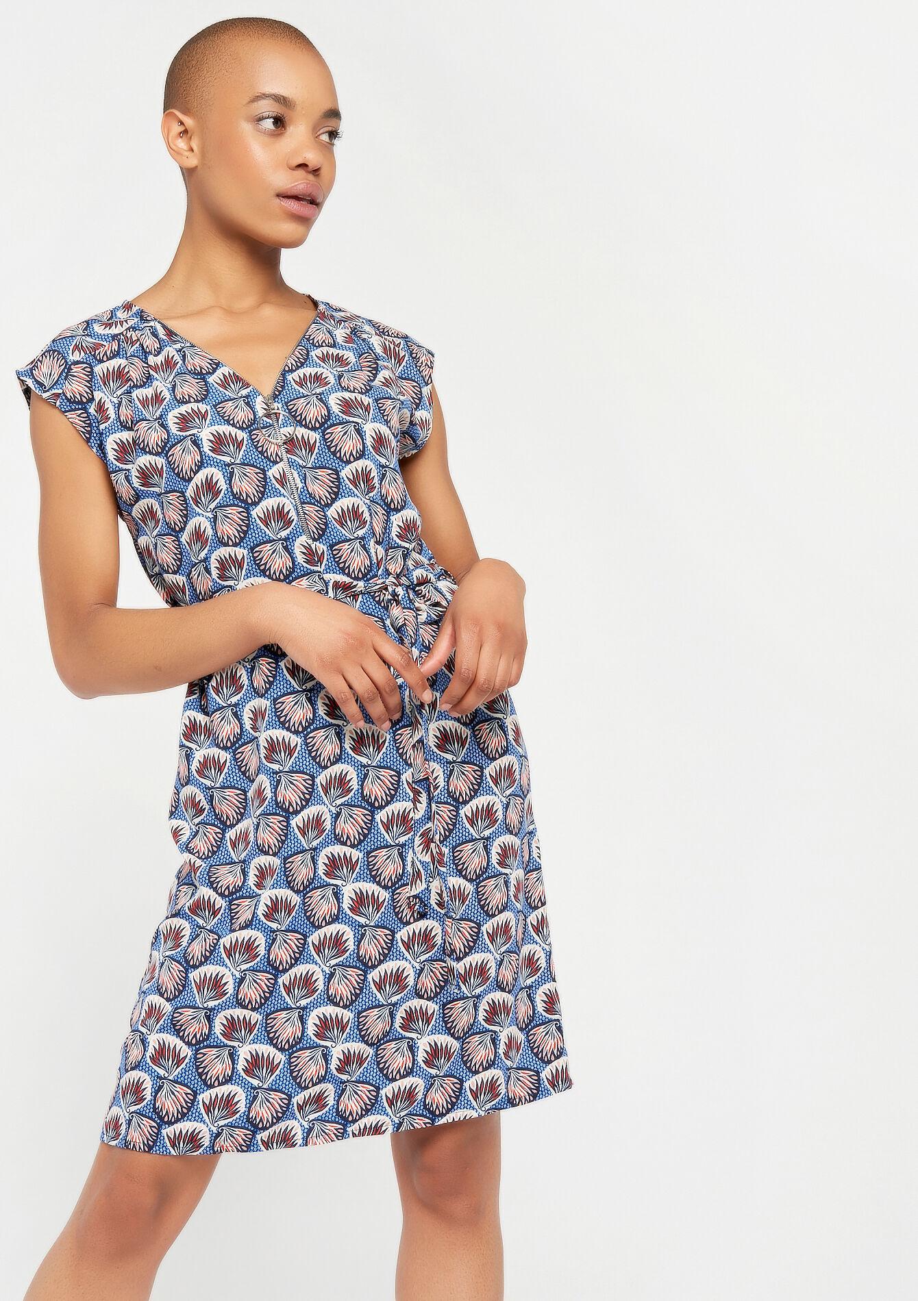 Mouwloze rechte jurk - BLUE ELECTRICAL - 08100712_2805