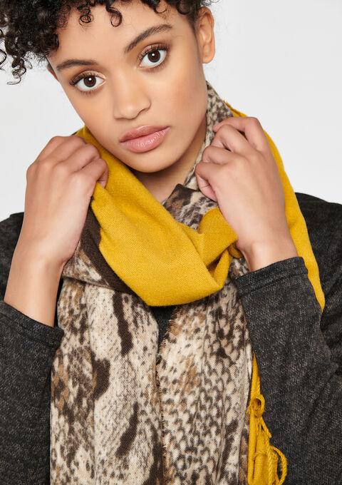 2 kleuren sjaal - YELLOW MINERAL - 972847