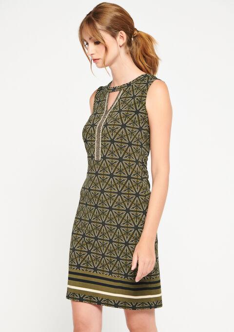 Mini jurk grafische print - KHAKI TURTLE - 08100698_1854