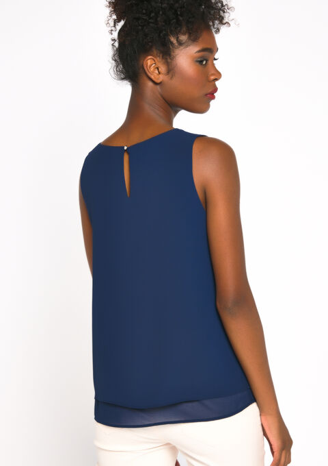 Blouse mouwloos - PEACOAT BLUE - 05700328_1655