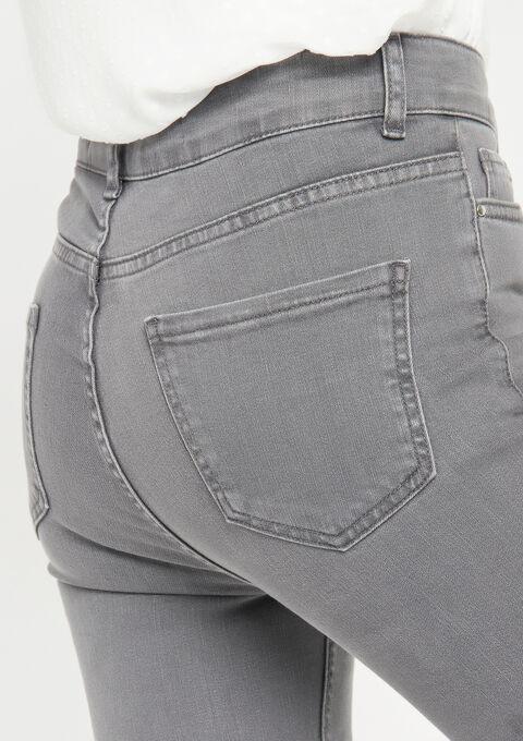 Broek met hoge taille, skinny - MEDIUM GREY MEL - 22000067_1068
