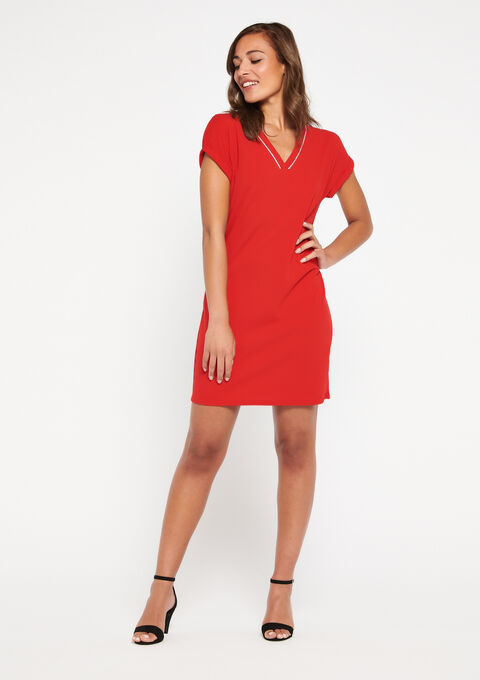 Robe droite manches courtes - RED RACING - 08100667_1497