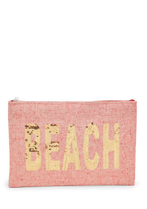 Shopper 'life is a beach' + small bag - COSMI PINK - 939437