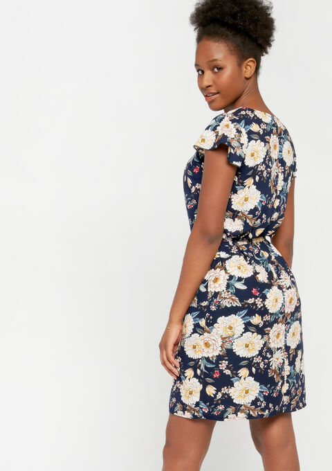 Jurk met bloemenprint - NAVY MILD - 08100706_2712