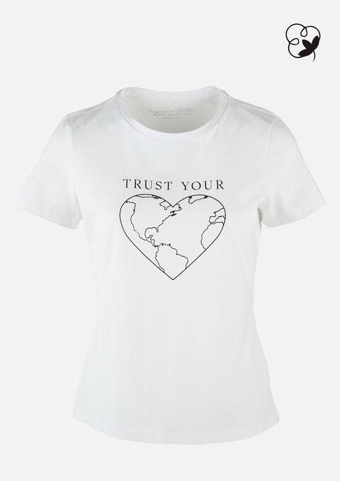 T-shirt organic katoen - REAL WHITE - 02300596_2509