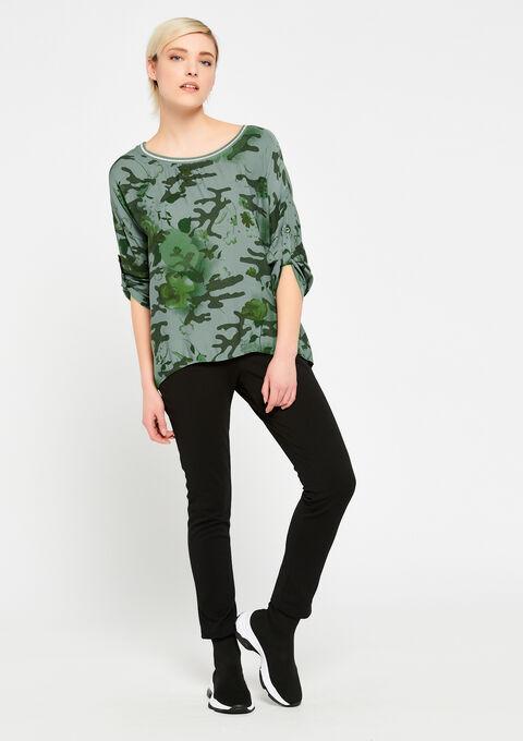 Blouse met camouflage print - KHAKI ARMY - 05700345_4314