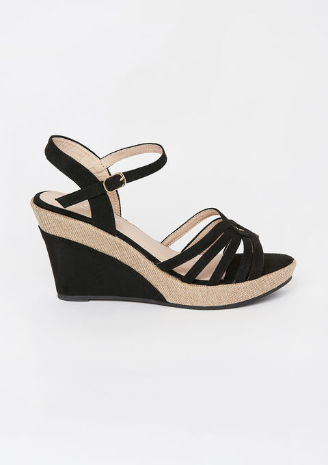 Wedged sandals - BLACK - 13000445_1119