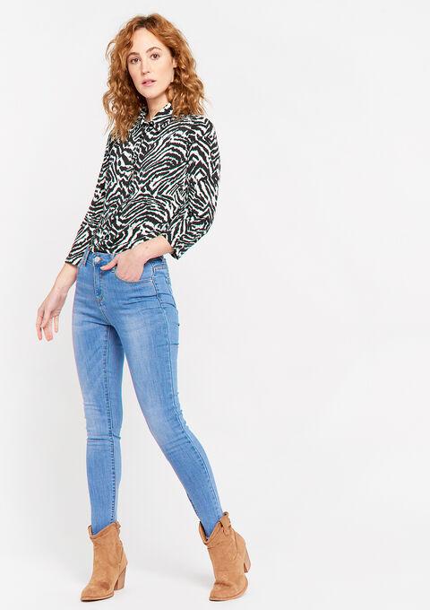 Hemd met zebraprint - NATURAL WHITE - 02300655_2510