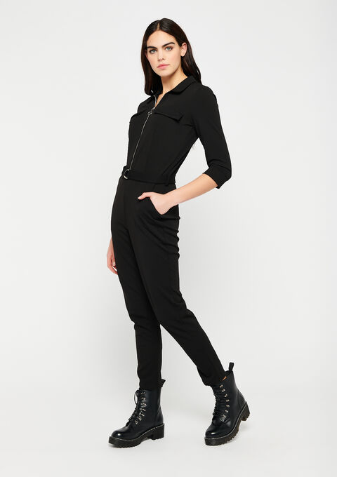 Utility jumpsuit - BLACK - 06004028_1119