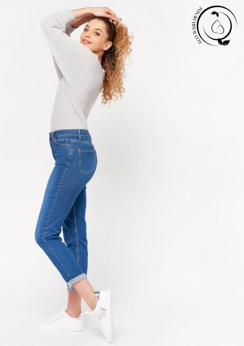 Eco-wash: Slim jeans met knopen - DARK BLUE - 22000194_501