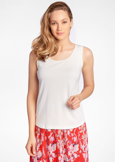 Top met parelversiering - IVORY WHITE - 02005562_1011