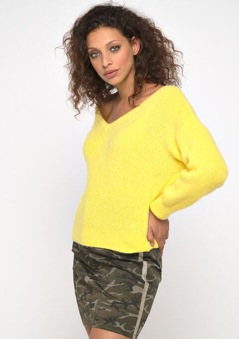 Mohair trui - YELLOW SUN - 04004958_5007