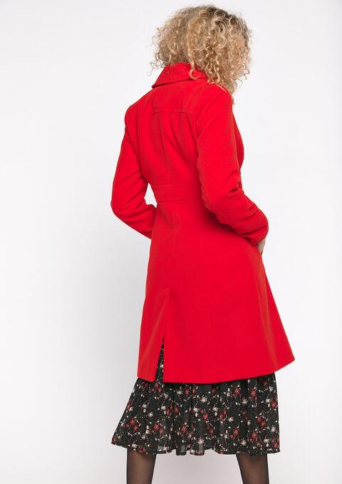 Winterjas met kraag - RED HIBISCUS - 23000152_1407