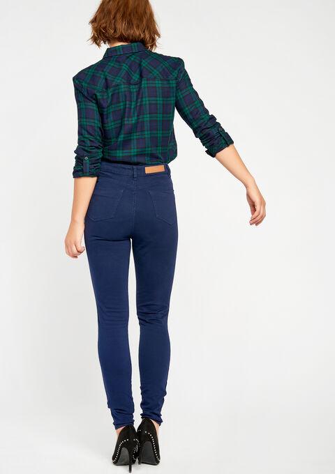 Slim fit broek met hoge taille - NAVY PAPER - 06003549_2708