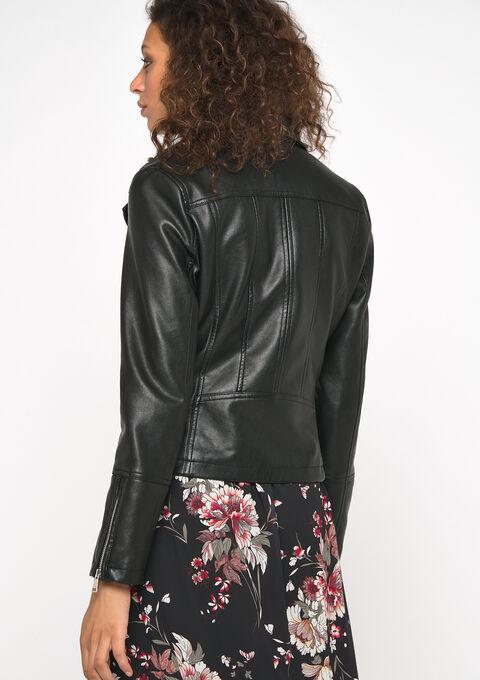 Biker jacket - BLACK - 09100214_1119