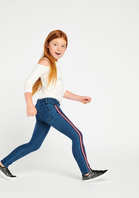 Jeans met streep opzij - MEDIUM BLUE - 06003624_500
