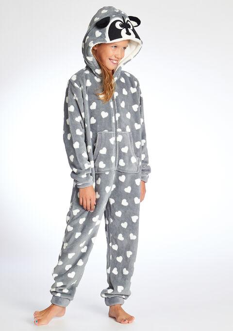 1a8121c57ba9 Child onesie with raccoon inspiration - FROSTY GREY - 821202