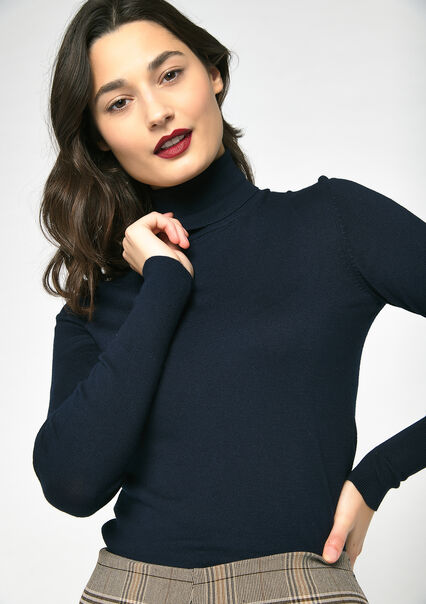 Pull col roulé - PEACOAT BLUE - 04004760_1655