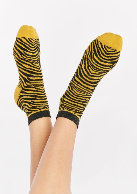 Sokken met zebra print - YELLOW MUSTARD - 969209