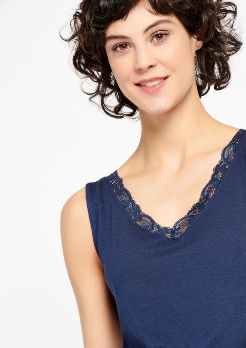Top avec dentelle - BLACK IRIS - 02200035_1667