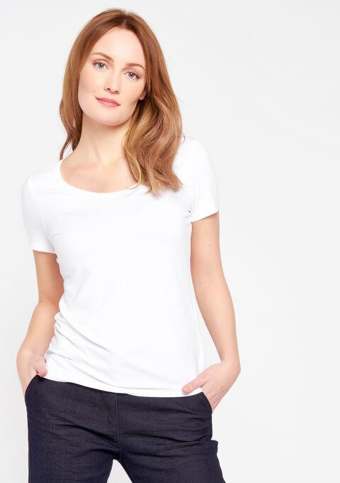 T-shirt met ronde hals & korte mouwen - OPTICAL WHITE - 02300083_1019