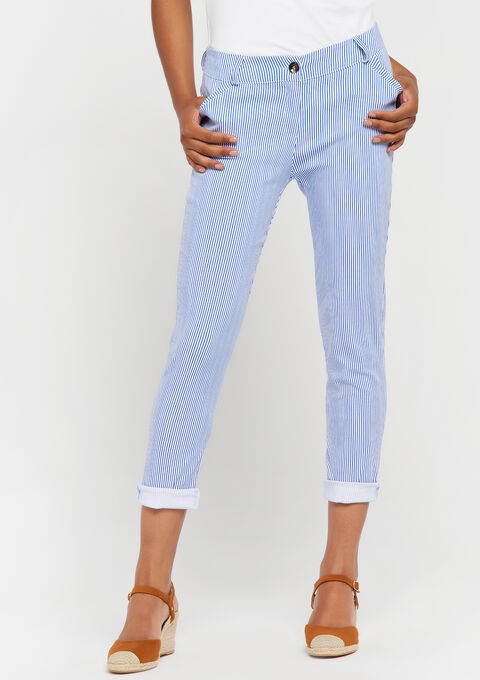 Slim broek bengaline - LIGHT BLUE - 953117