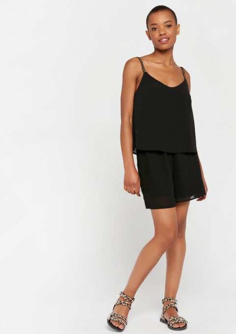 Shorty playsuit dubbele laag - BLACK - 06003957_1119