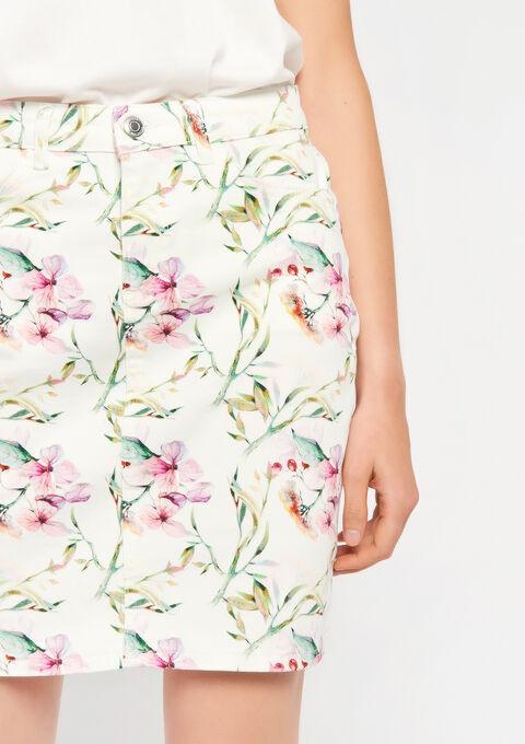 Rok met bloemenprint - WHITE ALYSSUM - 947245