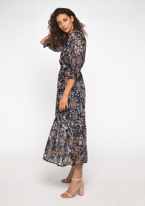 Maxi jurk bloemenprint - NAVY MILD - 08600974_2712