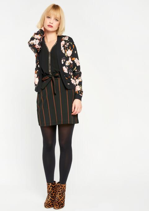 Los jasje met bloemenprint - BLACK BEAUTY - 09100137_2600