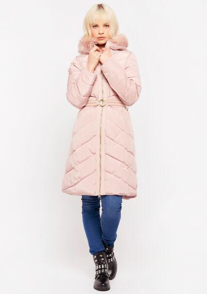 Kneelength padded jacket - PINK LOTUS - 23000145_1331