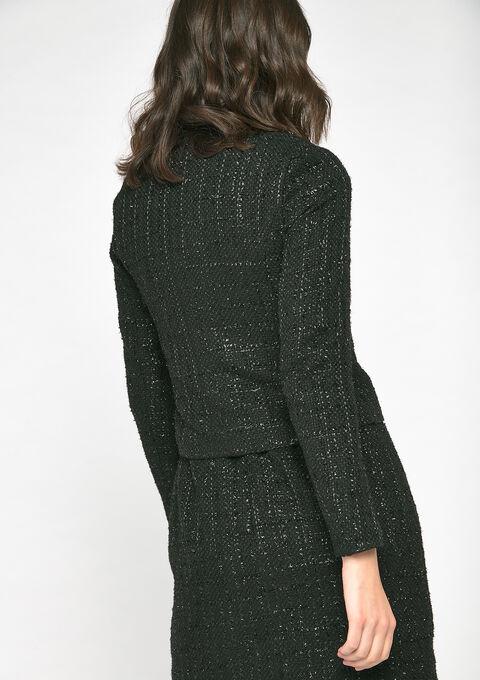 Jas met tweed - BLACK - 09100187_1119
