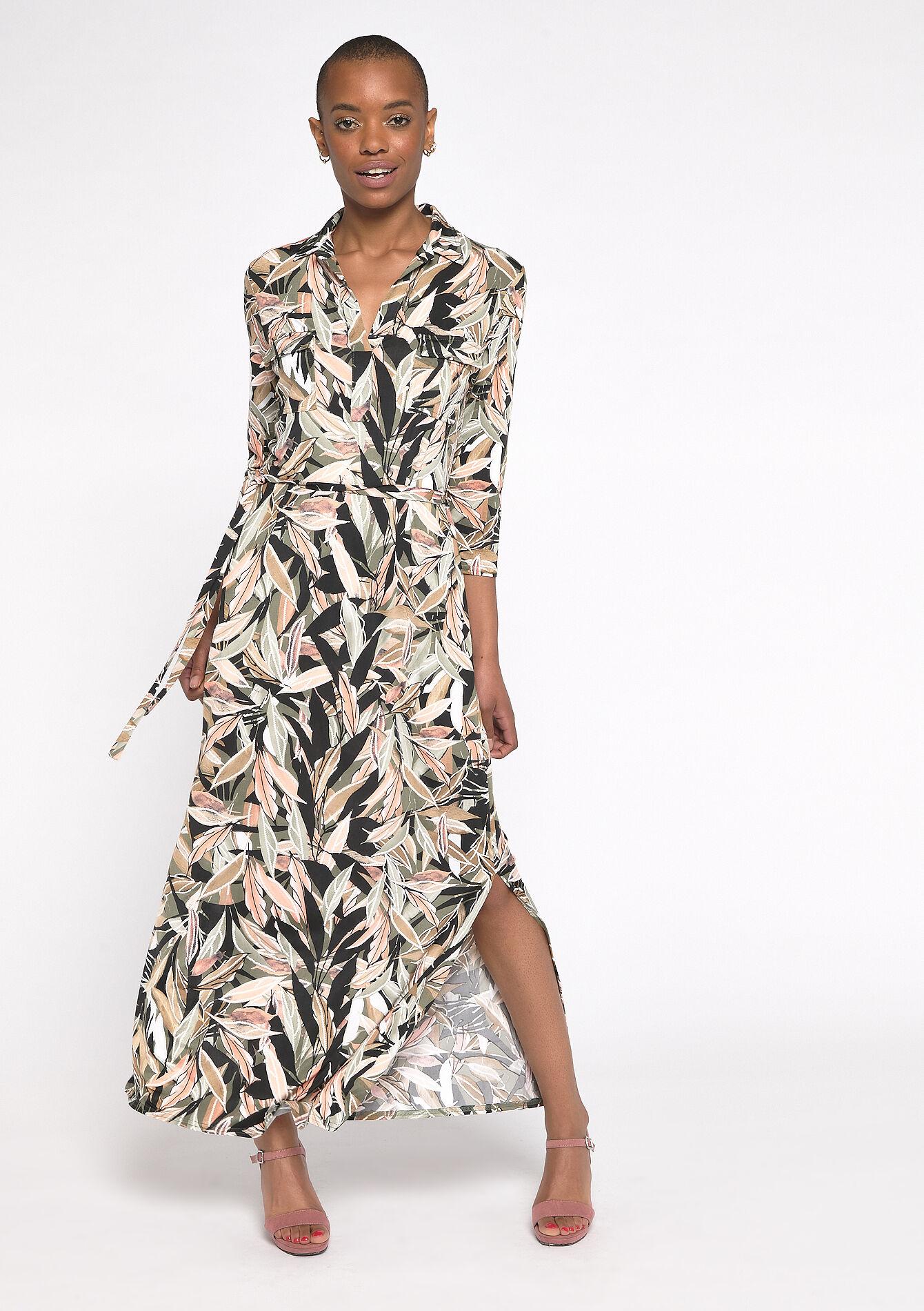 lange jurken driekwartsmouwen