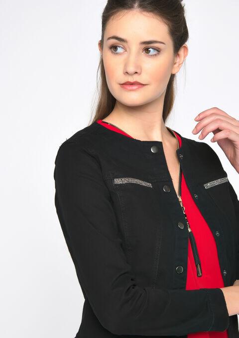 Katoenen jas zonder kraag - BLACK - 09100224_1119