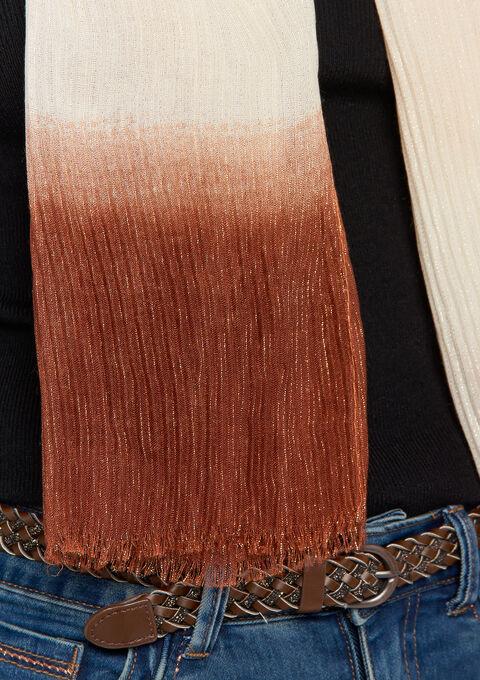Plissé sjaal met tye & dye - FIRED RED - 969178