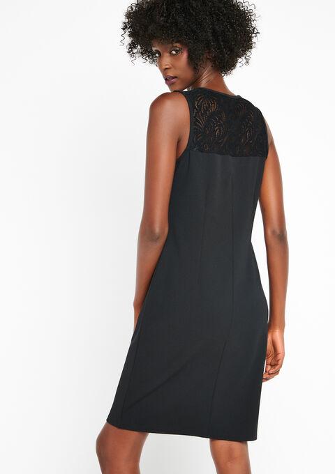 Korte jurk met kant zonder mouwen - BLACK BEAUTY - 08100140_2600