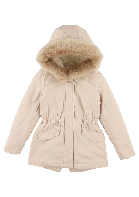 Gewatteerde jas met kap - PEARL BLUSH - 12000596_1333