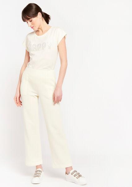 Pantalon jogging à grandes poches - WHITE SAND - 15100067_1041