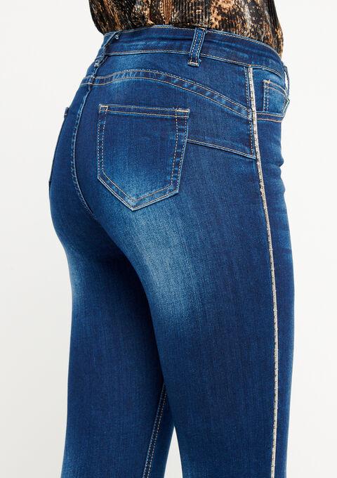 Jeans met strass-tape op de pijpen - BLUE DENIM - 22000082_1638