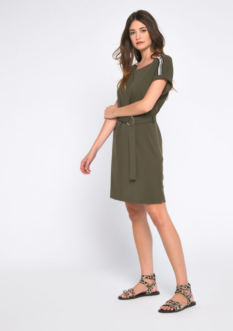 Robe mini - KHAKI DUG - 08101573_4202