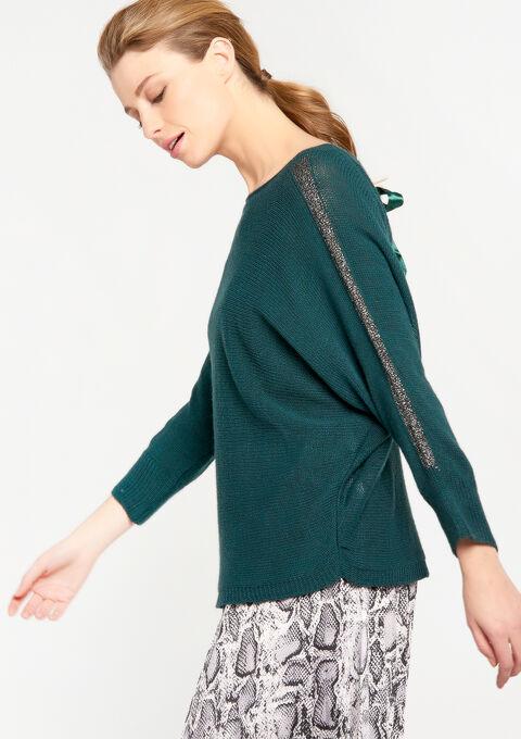 Lichte trui met striklint - GREEN DARKEN - 931629