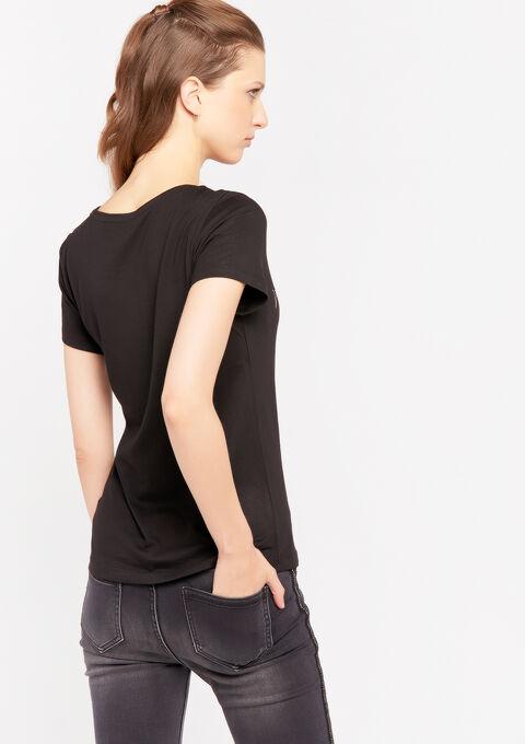 T-shirt met slogan - BLACK - 02300531_1119